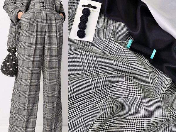 Люксовая  плательно-костюмная ткань из шелка и шерсти | Ярмарка Мастеров - ручная работа, handmade