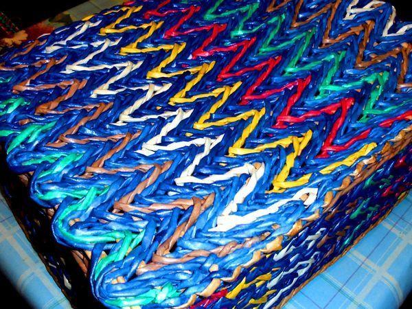 Видеоурок: послойного плетение «веревочкой» из газетных трубочек | Ярмарка Мастеров - ручная работа, handmade