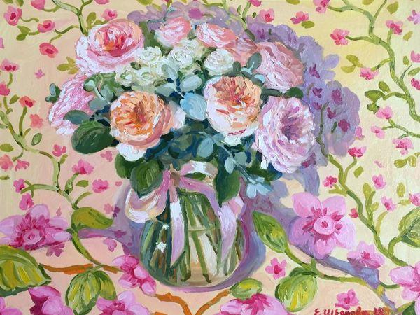 Картины цветов — приятные новинки в зимнюю стужу   Ярмарка Мастеров - ручная работа, handmade
