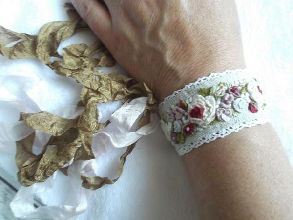 Мастерим летний браслет с вышивкой | Ярмарка Мастеров - ручная работа, handmade