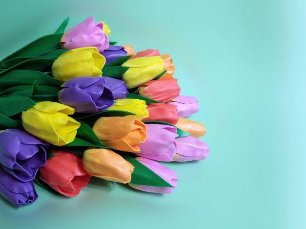 Создаем тюльпаны из остатков изолона | Ярмарка Мастеров - ручная работа, handmade