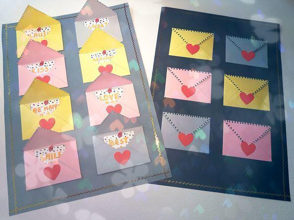 Делаем объемную открытку с конвертами-сюрпризами | Ярмарка Мастеров - ручная работа, handmade
