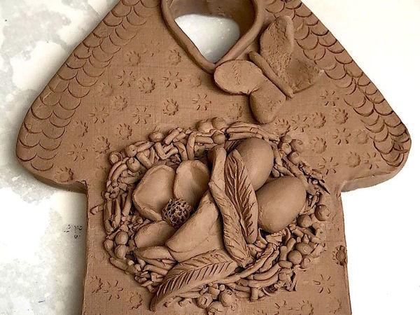 Лепим из глины Пасхальную композицию «Домик»   Ярмарка Мастеров - ручная работа, handmade