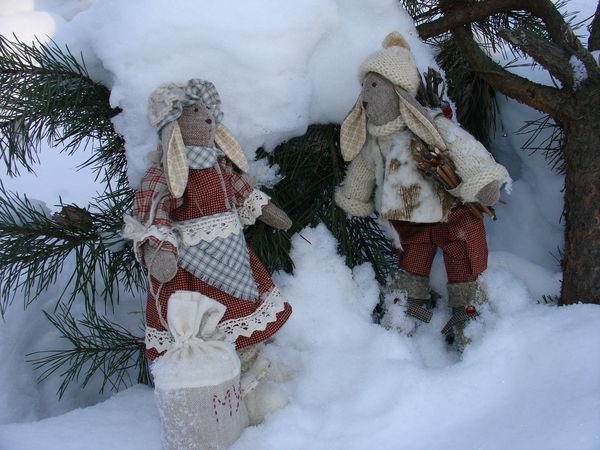 Сказка про зайцев ...или иногда играю в куклы. | Ярмарка Мастеров - ручная работа, handmade