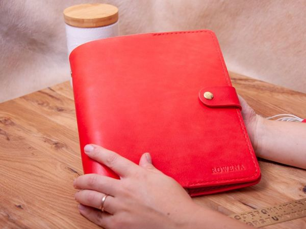 Кожаный ежедневник на кольцах | Ярмарка Мастеров - ручная работа, handmade