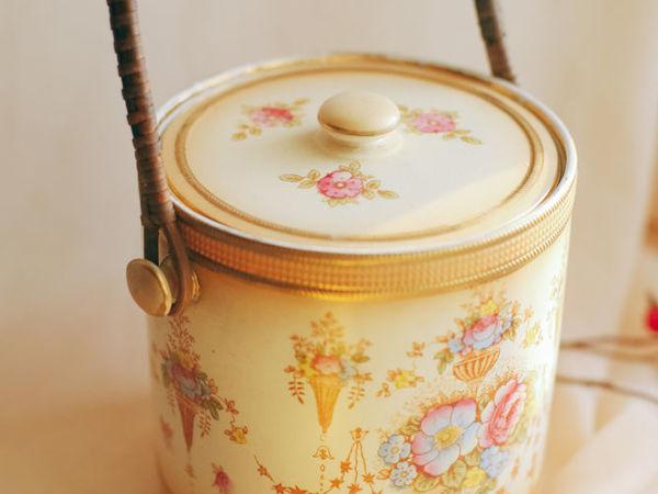 Антикварная фаянсовая бисквитница румяна Crown Devon Fielding Англия | Ярмарка Мастеров - ручная работа, handmade