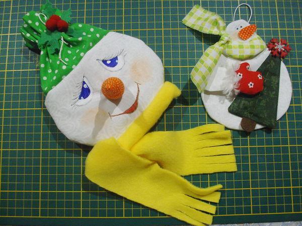 Шьем подарочные мешочки «Снеговички» | Ярмарка Мастеров - ручная работа, handmade