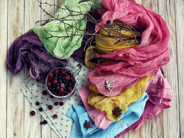 Красим ткань натуральными красителями в домашних условиях   Ярмарка Мастеров - ручная работа, handmade