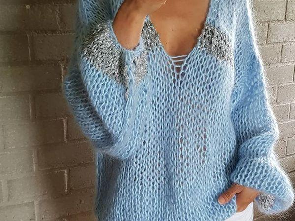 Скидка 20% на нежный мохеровый свитер с вырезом | Ярмарка Мастеров - ручная работа, handmade