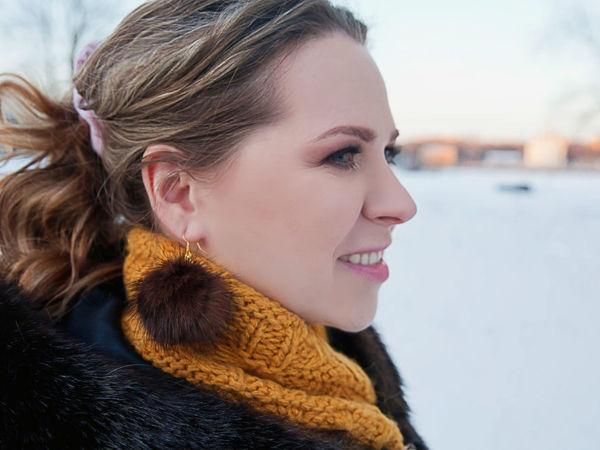 DIY Fur Earrings | Livemaster - handmade