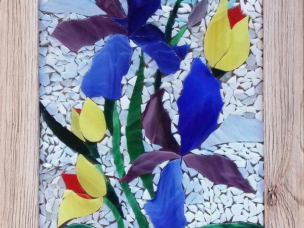 Выкладываем картину из кусочков стекла | Ярмарка Мастеров - ручная работа, handmade