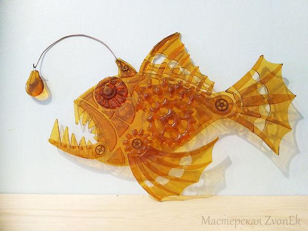 Фьюзинг за полторы минуты: видео мастер-класс по созданию рыбы из стекла   Ярмарка Мастеров - ручная работа, handmade