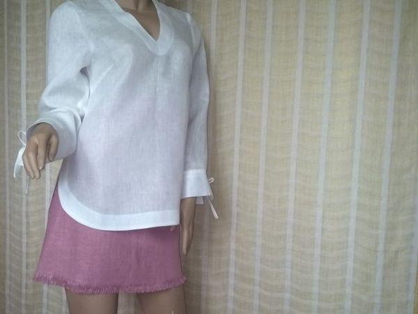 Офисная блузка из льна | Ярмарка Мастеров - ручная работа, handmade