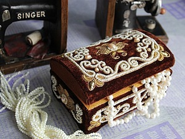 Шкатулка. Золотное орнаментальное шитьё. | Ярмарка Мастеров - ручная работа, handmade