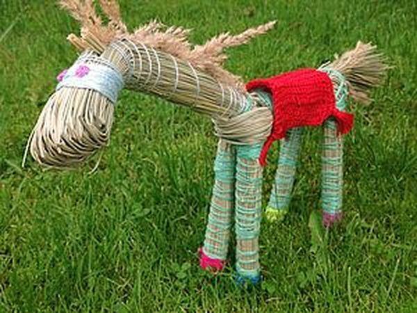 Как сделать лошадку из травы | Ярмарка Мастеров - ручная работа, handmade