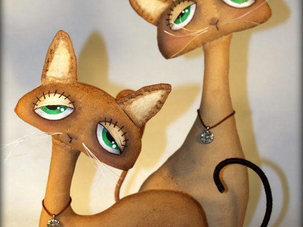 Шьём парочку кофейно-запеченых котиков Sadie и Jinx | Ярмарка Мастеров - ручная работа, handmade
