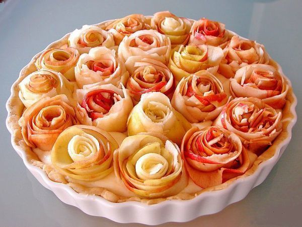 Яблочница- рецепт вкусного пирога с яблочными розами | Ярмарка Мастеров - ручная работа, handmade