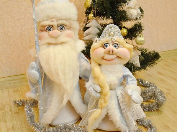 Серия видеоуроков: шьем Деда Мороза и Снегурочку в чулочной технике   Ярмарка Мастеров - ручная работа, handmade