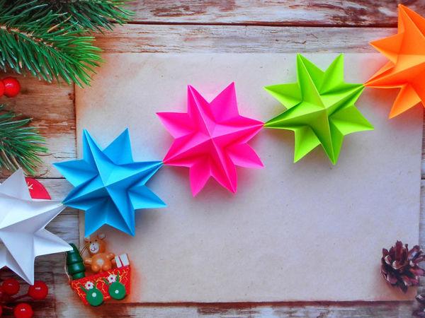 Handmade Paper Christmas Garland | Livemaster - handmade