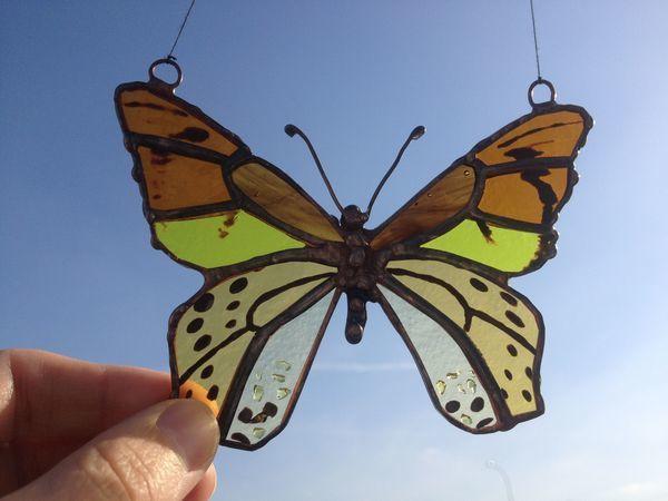 Делаем витражную подвеску бабочку | Ярмарка Мастеров - ручная работа, handmade