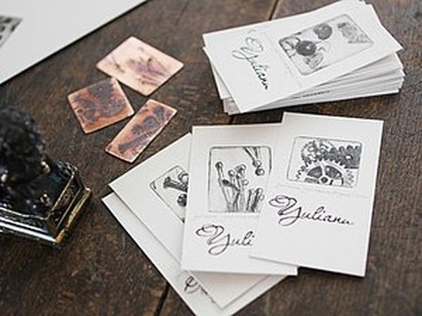 Брутальные визитки для брутальных стимпанкеров:) Ну или просто людей, знающих как подать себя дорого   Ярмарка Мастеров - ручная работа, handmade