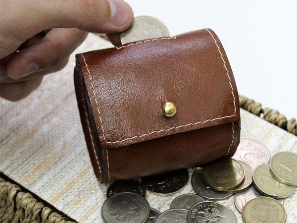 Изготовление кожаной монетницы или чехла для наушников | Ярмарка Мастеров - ручная работа, handmade