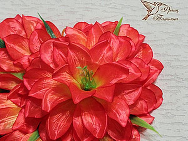 МК - Цветочная Валентинка | Ярмарка Мастеров - ручная работа, handmade