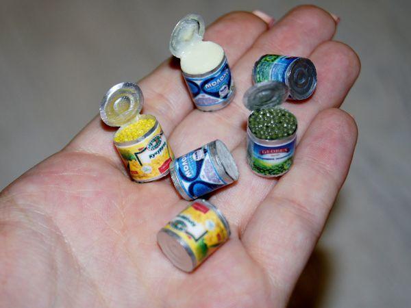 Видео мастер-класс: лепим миниатюру «Консервы» из полимерной глины | Ярмарка Мастеров - ручная работа, handmade