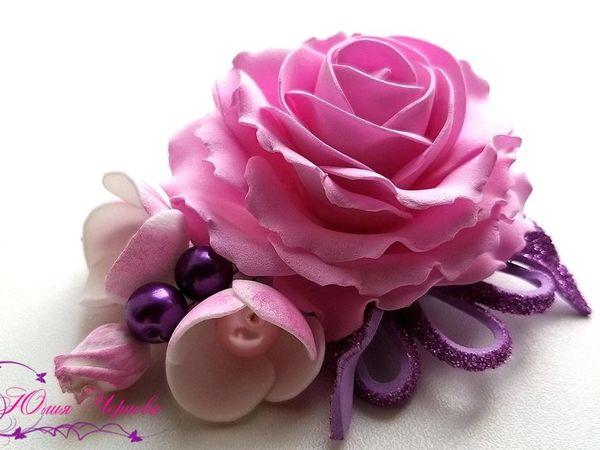Создаем простую розу с яблоневым цветом на любую основу   Ярмарка Мастеров - ручная работа, handmade