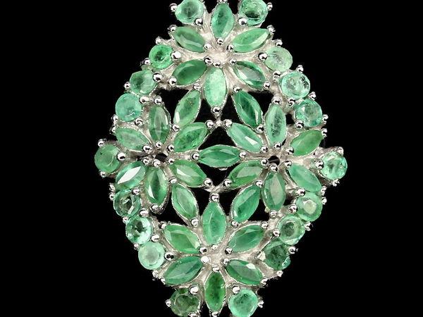Удивительное кольцо с натуральными изумрудами | Ярмарка Мастеров - ручная работа, handmade