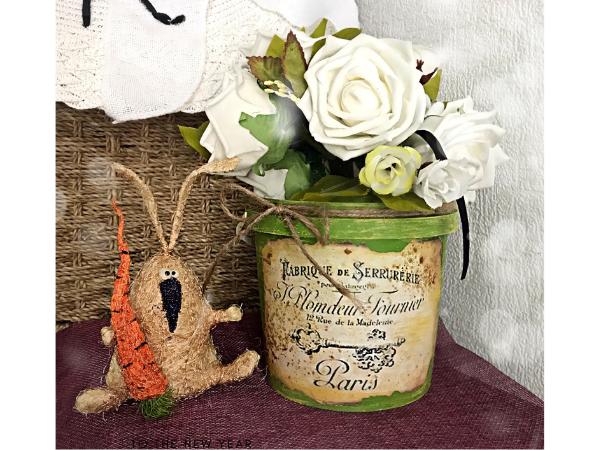 Превращаем майонезное ведерко в цветочное кашпо | Ярмарка Мастеров - ручная работа, handmade