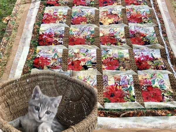 Видео мастер-класс: лоскутное одеяло «Окно в Сад» в технике «Акварель» | Ярмарка Мастеров - ручная работа, handmade
