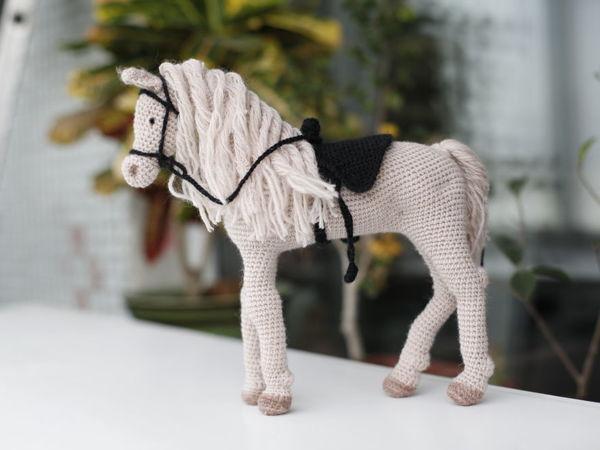 Crocheting Horse   Livemaster - handmade