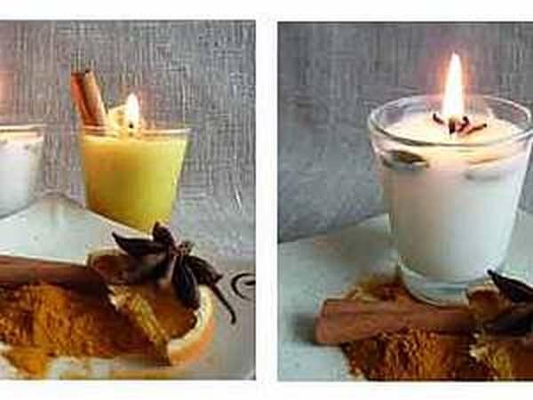Ароматизированная свеча из соевого воска | Ярмарка Мастеров - ручная работа, handmade