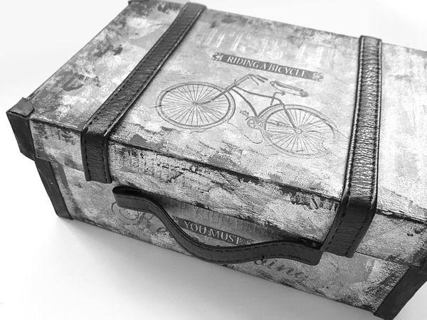 Декорируем обувную коробку под чемоданчик | Ярмарка Мастеров - ручная работа, handmade