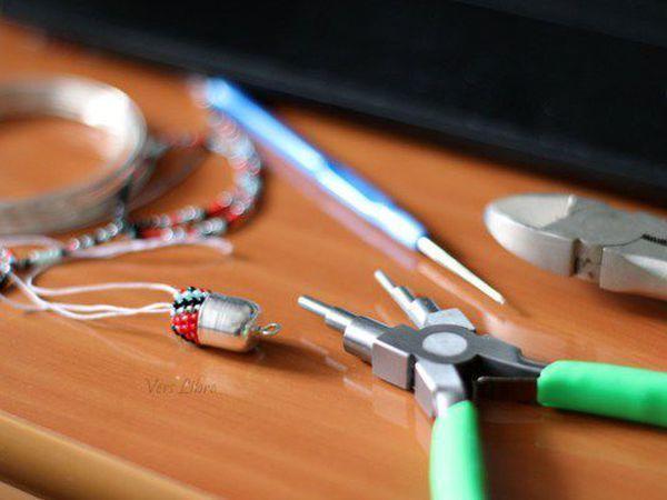 Как быстро, красиво и без отходов оформить начало вязаного жгута из бисера | Ярмарка Мастеров - ручная работа, handmade