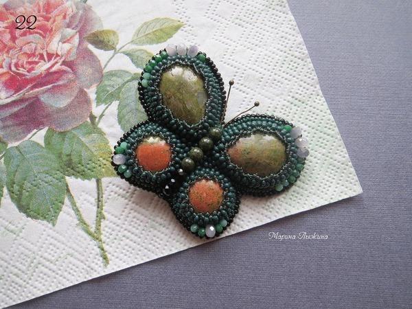 Вышиваем брошь «Бабочка весенняя» | Ярмарка Мастеров - ручная работа, handmade