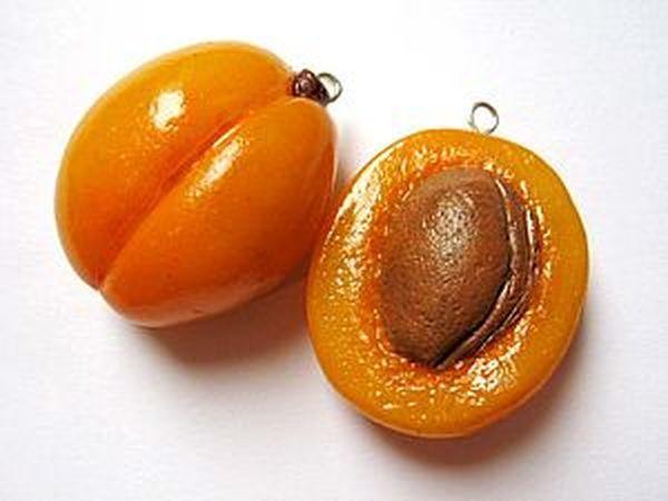 Лепим абрикос из полимерной глины | Ярмарка Мастеров - ручная работа, handmade