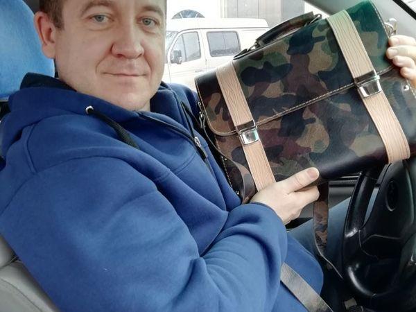Мужской портфель из итальянской кожи растительного дубления, боковины выполнены из лиственницы   Ярмарка Мастеров - ручная работа, handmade