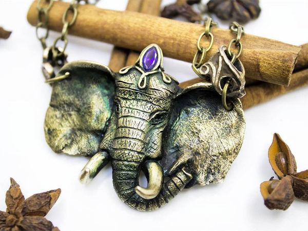 Новинка магазина кулон Винтажный Слон | Ярмарка Мастеров - ручная работа, handmade