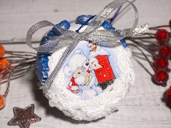 Делаем новогоднюю игрушку. Новогодний декор своими руками | Ярмарка Мастеров - ручная работа, handmade