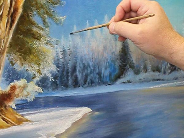 Зимний пейзаж: 12 мастер-классов для начинающих художников + БОНУС для продолжающих   Ярмарка Мастеров - ручная работа, handmade