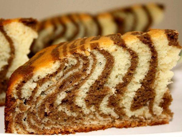 Пирог «Зебра» на кефире и растительном масле.  Вкусно и просто !!! | Ярмарка Мастеров - ручная работа, handmade