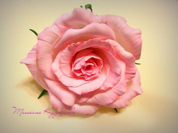 Роза из фоамирана «Нежность». Часть 1: обработка лепестков | Ярмарка Мастеров - ручная работа, handmade