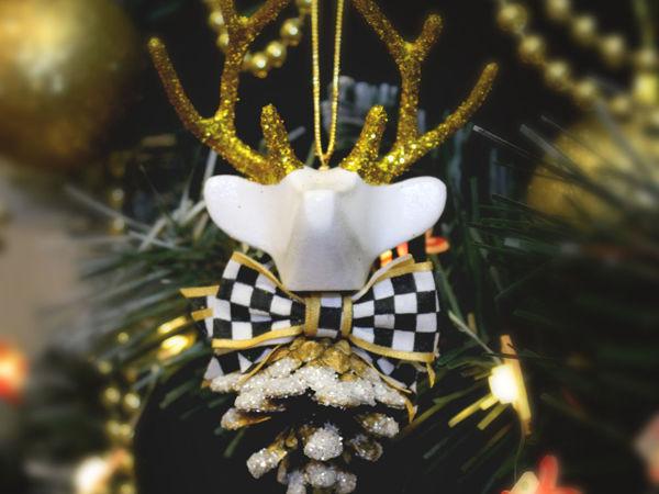 Делаем игрушку на ёлку «Лесной олень» 2-я Часть | Ярмарка Мастеров - ручная работа, handmade