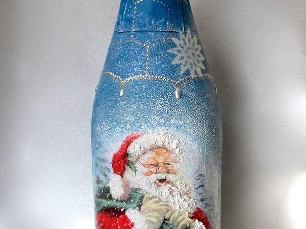 Декупажный мастер-класс! Декор новогодней бутылки!! +Бонусы и  подарки! | Ярмарка Мастеров - ручная работа, handmade