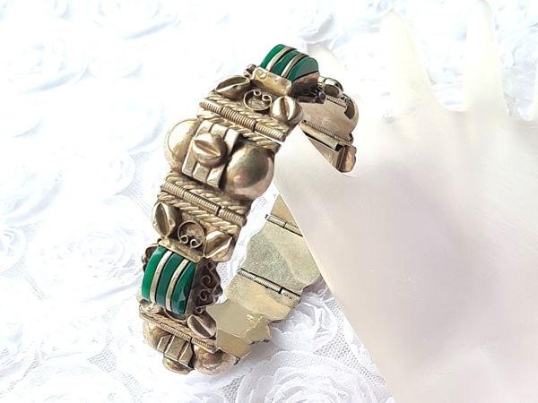 Видео. Антикварный мексиканский браслет,серебро   Ярмарка Мастеров - ручная работа, handmade