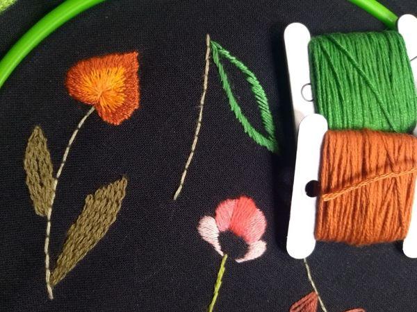 Вышивка гладью для начинающих (занятие 2) | Ярмарка Мастеров - ручная работа, handmade