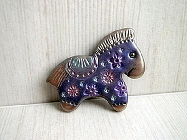 Новогодняя лошадка из полимерной глины. | Ярмарка Мастеров - ручная работа, handmade