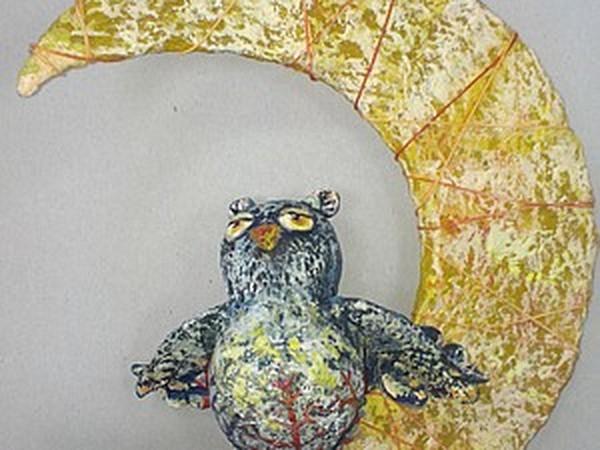 Cовушка на луне   Ярмарка Мастеров - ручная работа, handmade